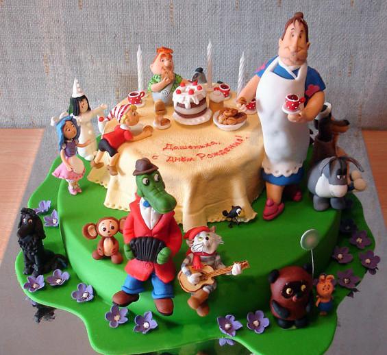 Фото детских тортиков