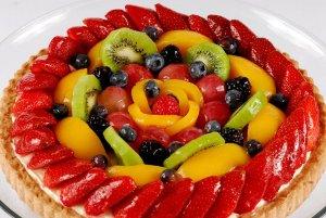 Варианты оформления фруктами