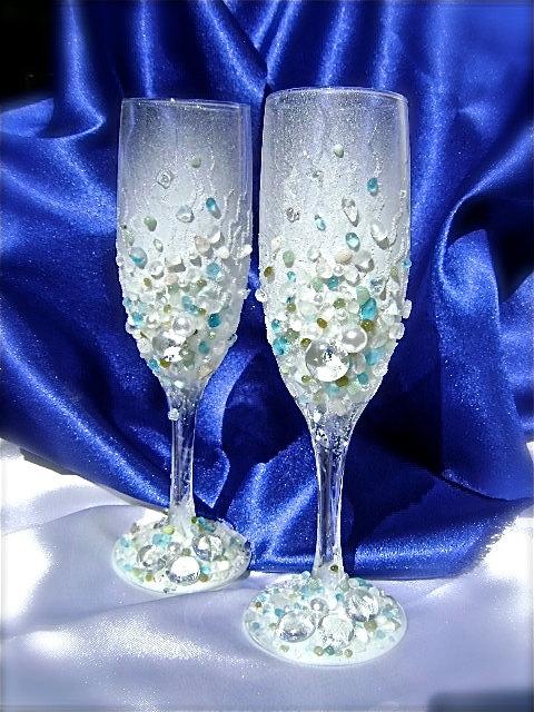 Оформление бокалов на свадьбу мастер класс