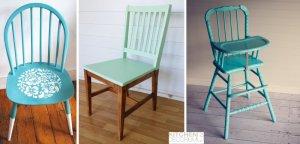 Простой декор старого стула