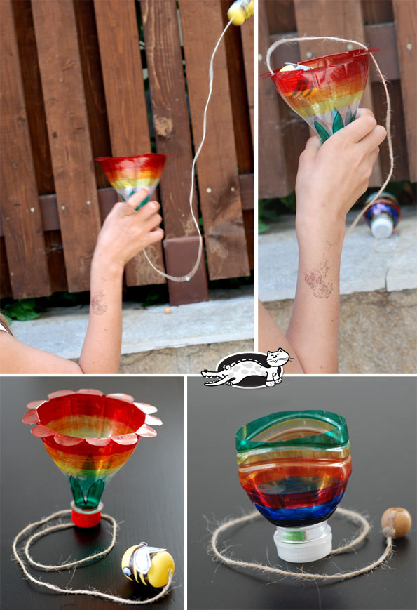 Как сделать игрушку из пластиковой бутылки