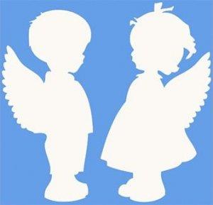 Трафареты ангелов