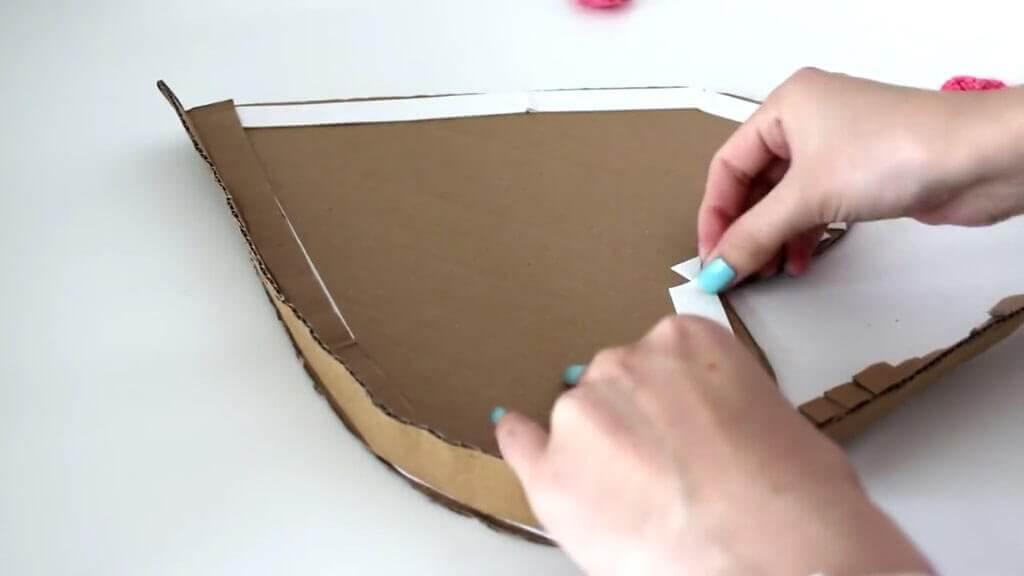 Сердце из картона и бумажных салфеток для свадьбы (мастер-класс)