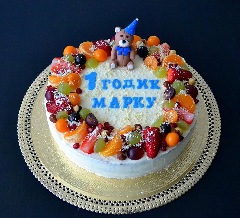 Торт на год украшения фото