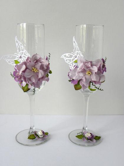Варианты декора бокалов