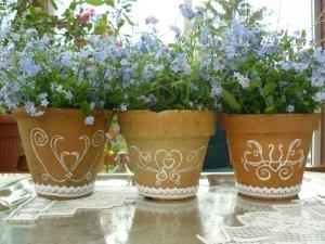 Как сделать стильный декор цветочных горшков