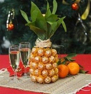 Шампанское с ананасом