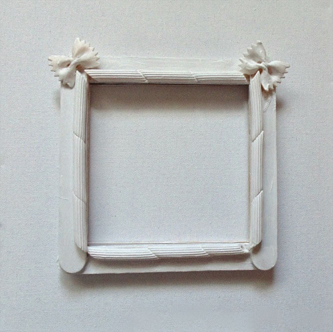 Декор рамки макаронами (мастер-класс)