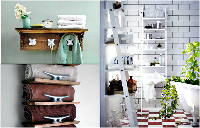 Декор ванной комнаты - винтаж из газетных трубочек (мастер-класс)