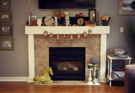 Декор камина - практичные идеи