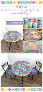 Варианты декора краской