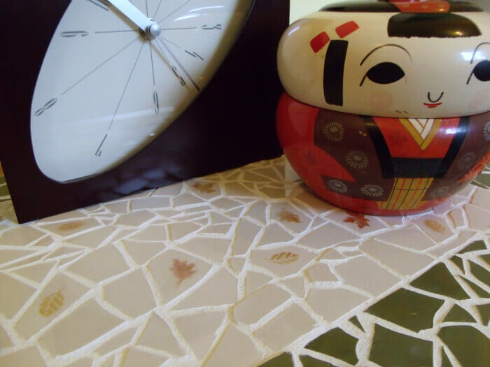 Мозаика из битых тарелок (мастер-класс)