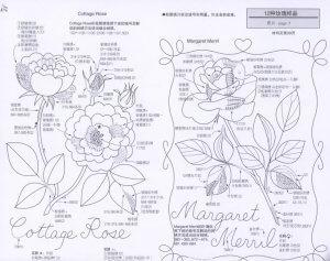 Схемы и рисунки для вышивки гладью