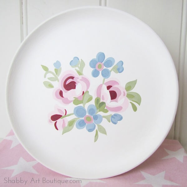 Как раскрасить тарелку для кухни - мастер класс