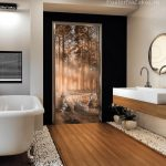 Декор двери плёнкой