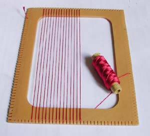 Ковёр из шерсти в технике ткачества