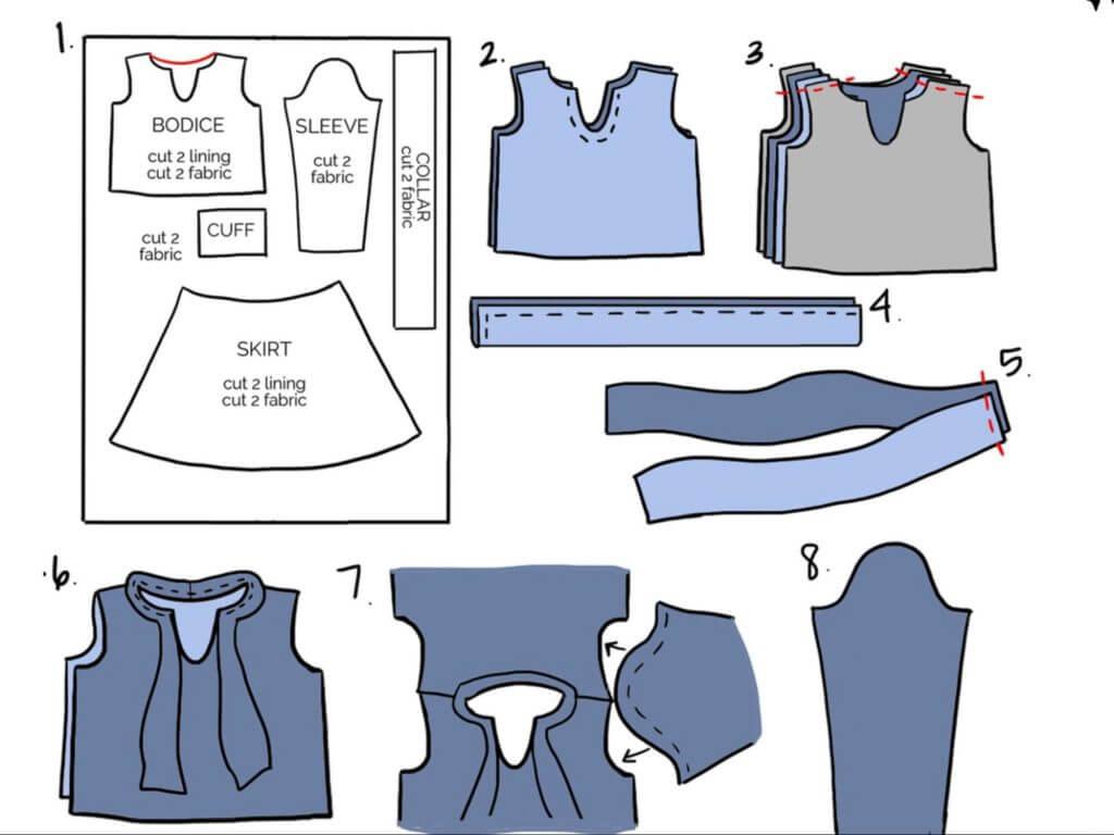Как украсить блузку - схемы и мк