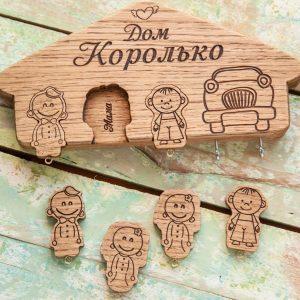 Настенная деревянная ключница - мастер-класс пошагово