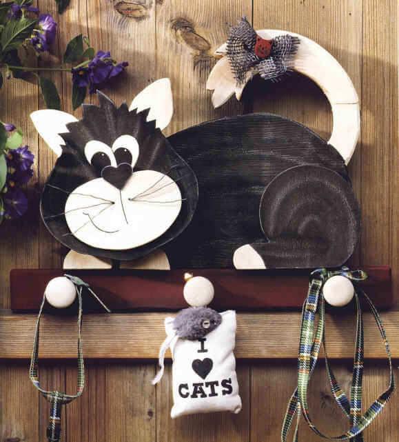 Как сделать деревянную ключницу «Кошка»