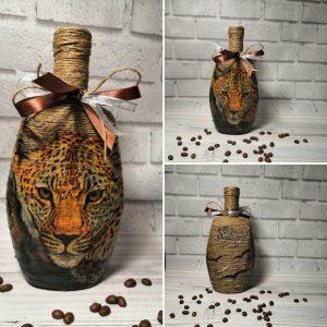 Декор и декупаж бутылок к 8 марта - дарим с любовью!