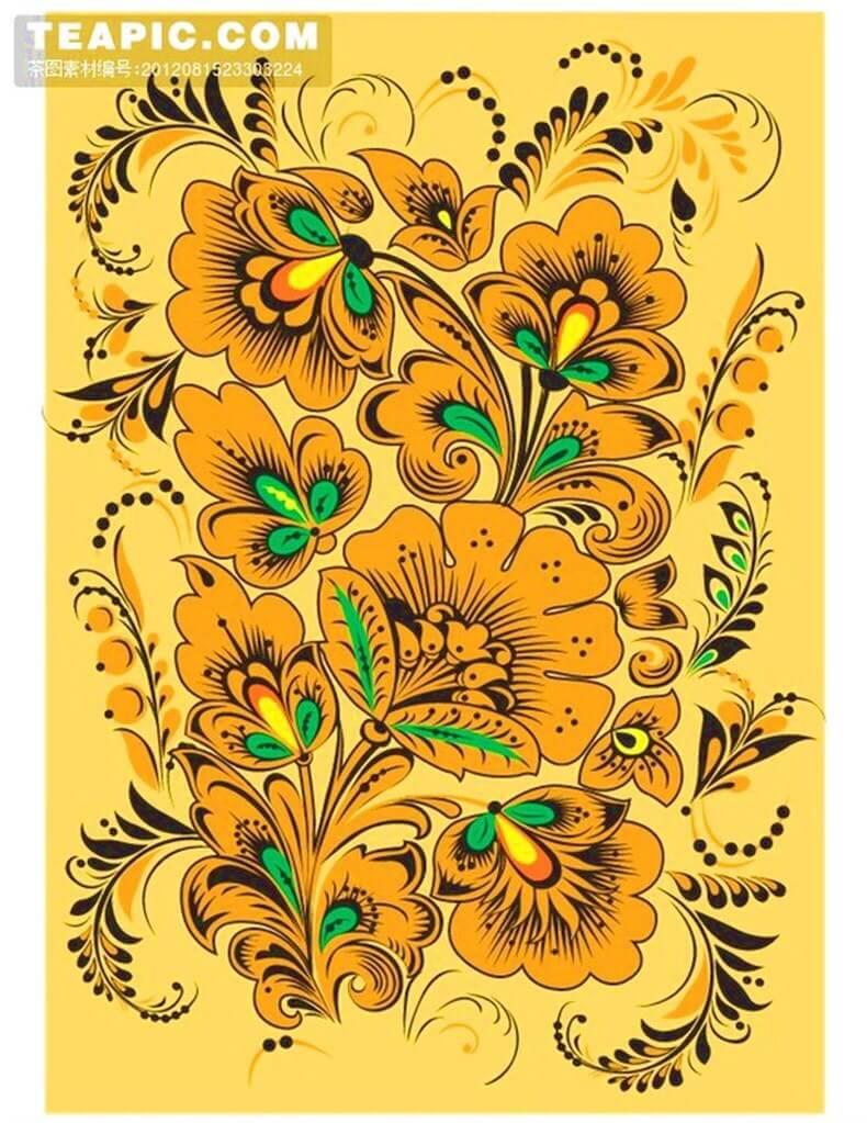 Роспись по дереву - потрясающая хохлома своими руками
